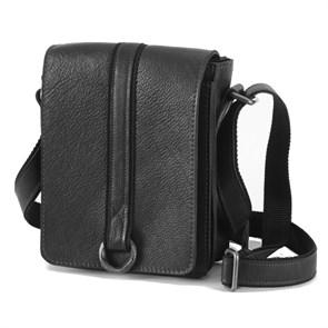 """Мужская сумка из натуральной кожи """"Messenger"""", цвет черный"""
