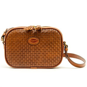 """Женская кожаная сумка """"Capri"""", цвет орех"""