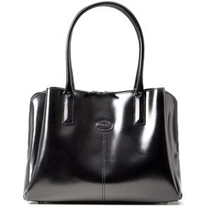 """Кожаная женская сумка """"CHELSEA"""", цвет черный"""