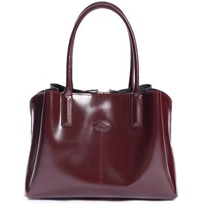 """Кожаная женская сумка """"CHELSEA"""", цвет бордо"""