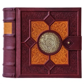 """Книга-бар """"Фолиант"""" из натуральной кожи с графином и стопками"""