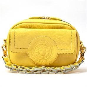 "Кожаная женская сумка ""ROYAL LINE"", цвет желтый"