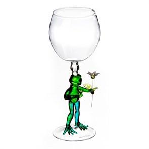 """Винный бокал из стекла ручной работы """"Настоящий мужчина"""""""