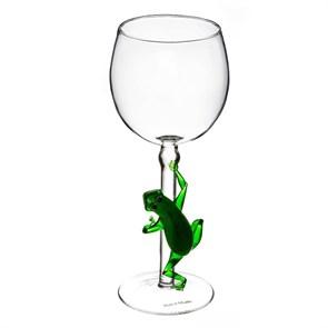 """Винный бокал из стекла ручной работы """"Лягушка"""""""
