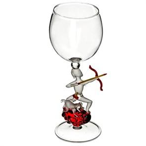"""Винный бокал из стекла ручной работы """"Охотник"""""""