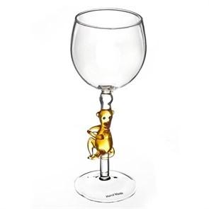 """Винный бокал из стекла ручной работы """"Обезьянка"""""""