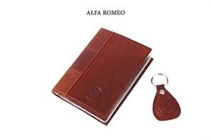 """Кожаная обложка для водительского удостоверения с брелком """"ALFA ROMEO"""""""