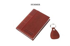 """Кожаная обложка для водительского удостоверения с брелком """"HUMMER"""""""