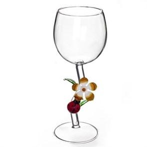 """Винный бокал из стекла ручной работы """"Исполнение желаний"""""""