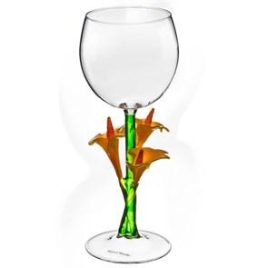 """Винный бокал из стекла ручной работы """"Букет"""""""