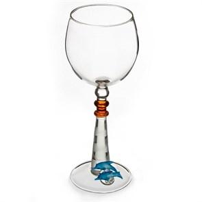 """Винный бокал из стекла ручной работы """"Маяк"""""""