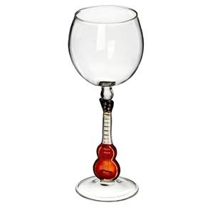 """Винный бокал из стекла ручной работы """"Гитара"""""""