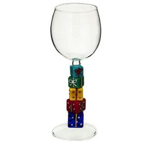 """Винный бокал из стекла ручной работы """"Подарки"""""""