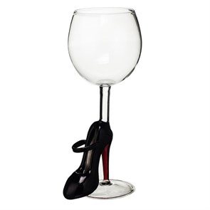 """Винный бокал из стекла ручной работы """"Лабутен"""""""