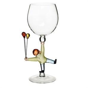 """Винный бокал из стекла ручной работы """"Радость"""""""