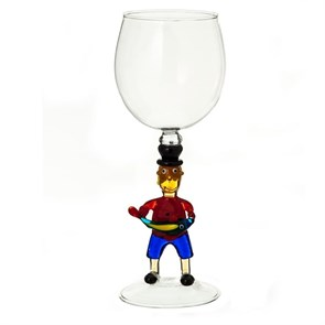 """Винный бокал из стекла ручной работы """"Рыбак"""""""