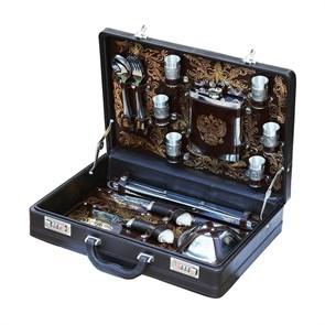 """Набор подарочный для пикника """"Аристократ"""" в кожаном чемодане, 6 персон"""