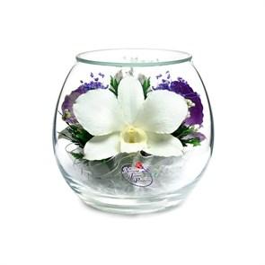 """Цветы в стекле """"Соната"""" композиция из орхидей"""
