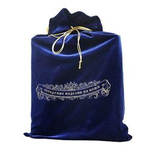 Мешок подарочный бархатный 37х60, цвет ультрамарин