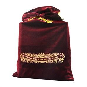 Мешок подарочный бархатный 33х56, цвет бордовый