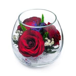 """Композиция """"Магия"""" из красных роз в колбе"""