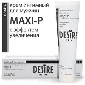"""Интимный крем- гель """"Maxi-P"""" для мужчин с эффектом увеличения, 30 мл"""