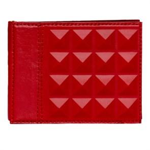 Зажим универсальный «Геометрия» из натуральной кожи, красный