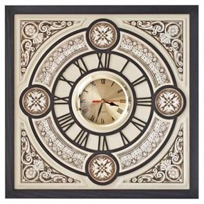 """Часы сувенирные """"Барокко"""" из кожи"""