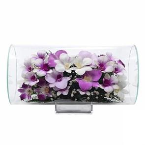 """Цветы в стекле """"Очарование"""" композиция из орхидей"""