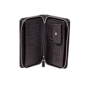 Классический клатч для документов из натуральной кожи