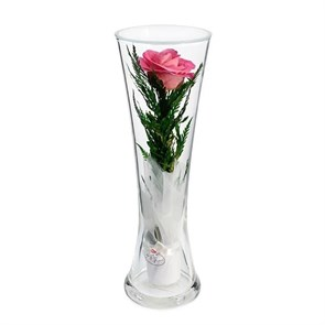 """Цветы в стекле """"Звезда"""" композиция из розовой розы"""
