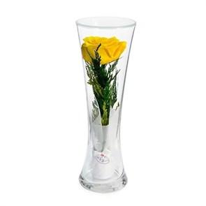 """Цветы в стекле """"Звезда"""" композиция из желтой розы"""