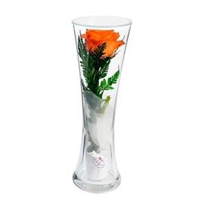 """Цветы в стекле """"Звезда"""" композиция из оранжевой розы (арт. CuHRo)"""