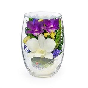 """Композиция из орхидей и хризантем """"Обаяние"""""""