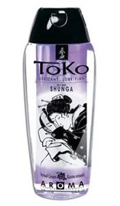Ароматический съедобный лубрикант- смазка Shunga Toko Grape/ Виноград, 165 мл