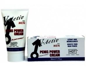 """Крем мужской силы """"V-Activ Penis Power cream"""" от HoT, 50 мл"""