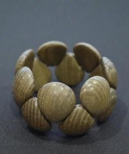 "Деревянный браслет ""Черепашка"" из ясеня"