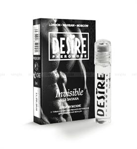 Духи мужские с феромонами Invisible/ Невидимые без запаха, 5 мл