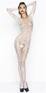 Роскошный комбинезон с длинными рукавами и цветочным узором