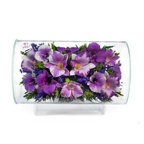 Композиция из орхидей (арт.TLO3) цветы в вакуме в стекле