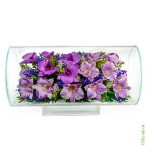 """Цветы в стекле """"Маркиза"""" композиция из орхидей (арт. TJO5)"""