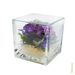 """Орхидея в стекле """"Квадрат"""""""