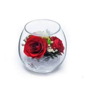 """Композиция из красных роз """"Трио"""" арт. BmiR2 в подарочной упаковке"""
