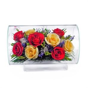 {{photo.Alt || photo.Description || 'Композиция из разноцветных роз (арт.TLR5с4) в вакууме'}}