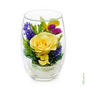Композиция из роз и орхидей (арт. RmiM-01) в подарочной упаковке