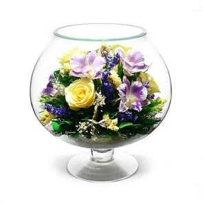 Цветы в стекле из орхидей и хризантемы серии (арт. GJM8)