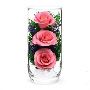 """Композиция из розовых роз """"Трио"""" в подарочной упаковке"""