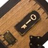 """Кожаный магнитный фотоальбом большой """"За семью замками"""""""