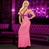 Вечернее розовое платье в пол от Hustler - фото 69123