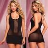 Короткое полупрозрачное платье - фото 71241